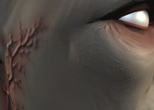PreModeled Face Textured - 4