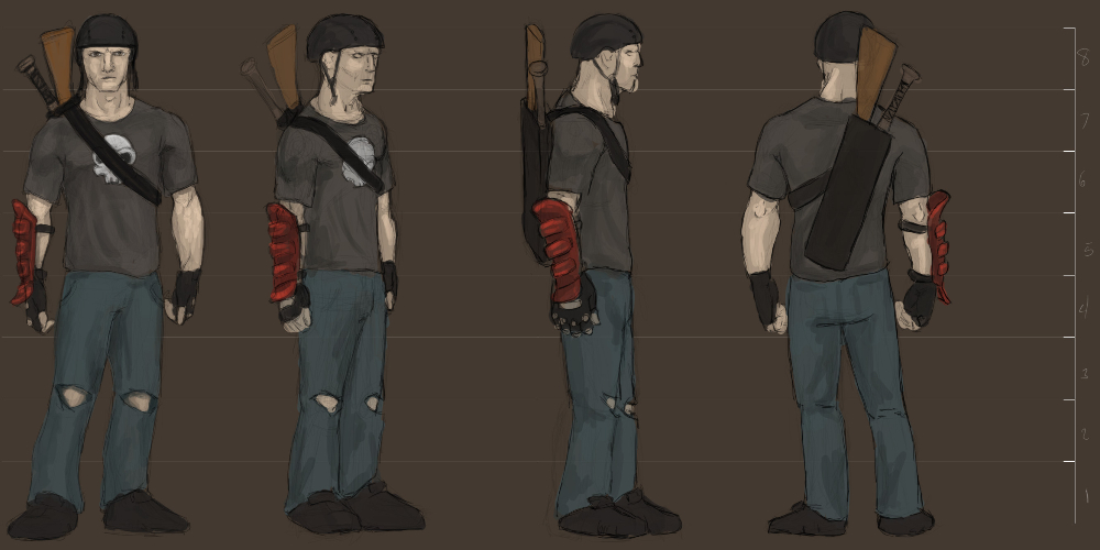 Post Apocalyptic Fighter Concept