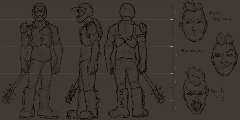 Post Apocalyptic Warrior Concept